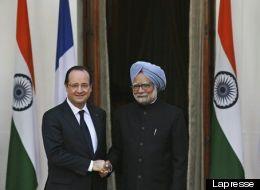 Francois Hollande, Manmohan Singh